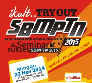 Tryout SBMTPN UNS NOV 2015