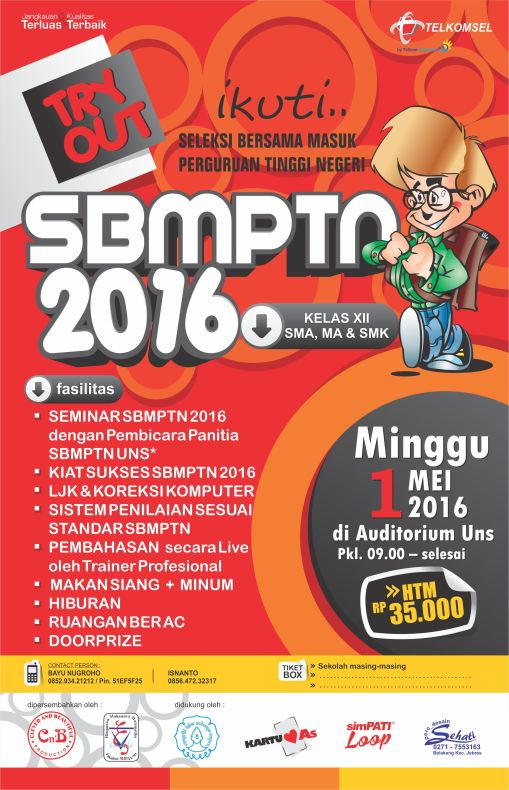 TRY OUT SBMPTN MEI 2016